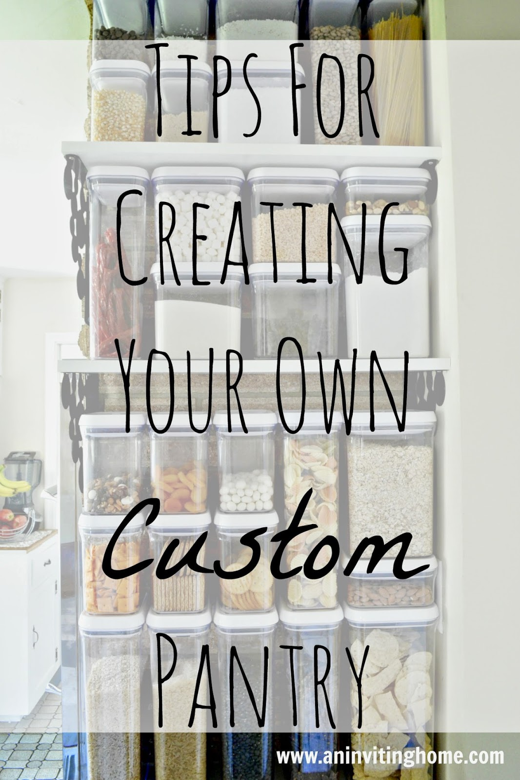 Tips For Creating Your Own Custom Pantry