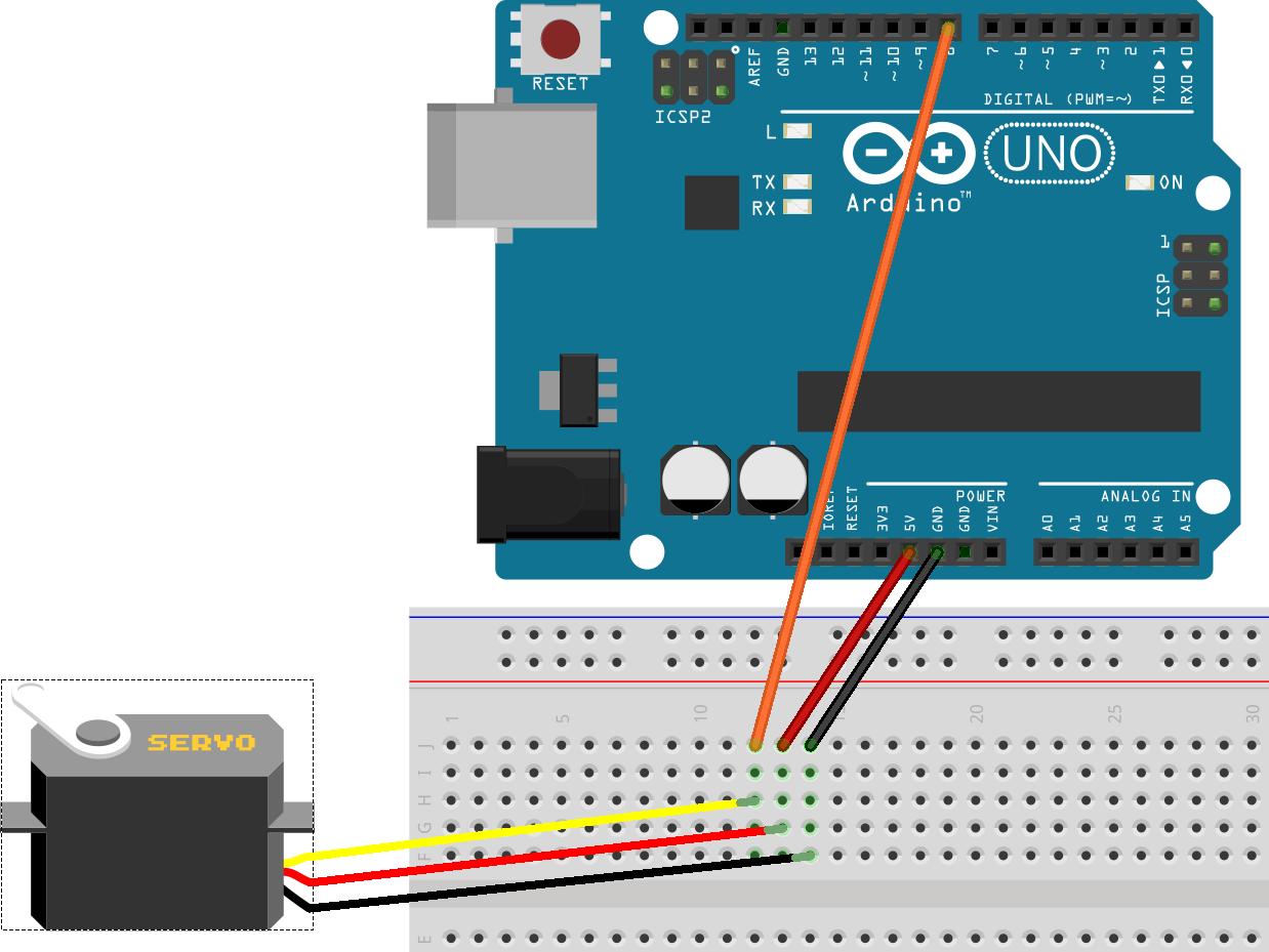 葉難 arduino練習:伺服馬達以tower pro sg 為例