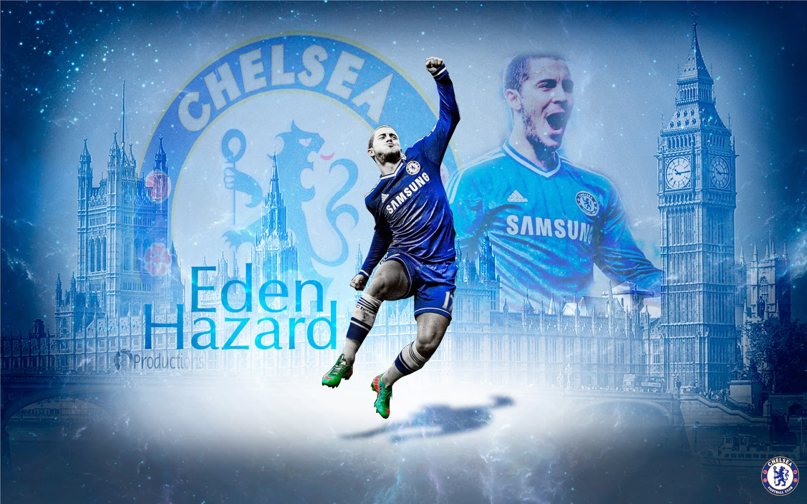 8 Productions: Eden Hazard Chelsea 2013/14 wallpaper