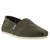 TOMS - Classics Canvas - Olive Green - Mens