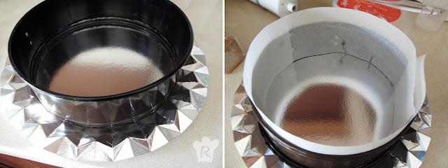 Prepara la bandeja y el aro de emplatar