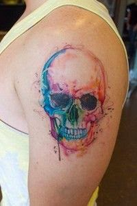 ♥ ♫ ♥ Watercolor skull tattoos ♥ ♫ ♥
