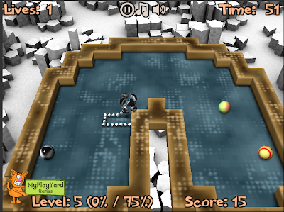 Xonix 3D level pack screenshot 1