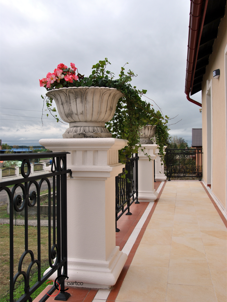 Coloane Decorative Polistiren Vas Flori Balcon Pret CoArtCo