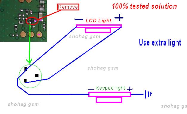 nookia 101 light ic jumper nokia 101 lcd and keypad light solution