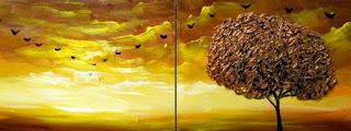cuadros-modernos-de-paisajes-con-arboles-coloridos