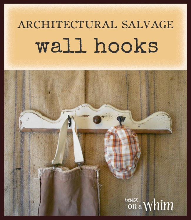 Architectural Salvage Wall Hooks from Denise on a Whim