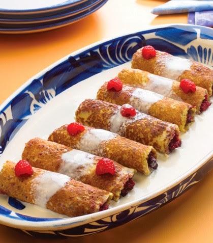 Cocina facil y rapido crepas rellenas de frutas rojas con for Cocina facil y rapido de preparar