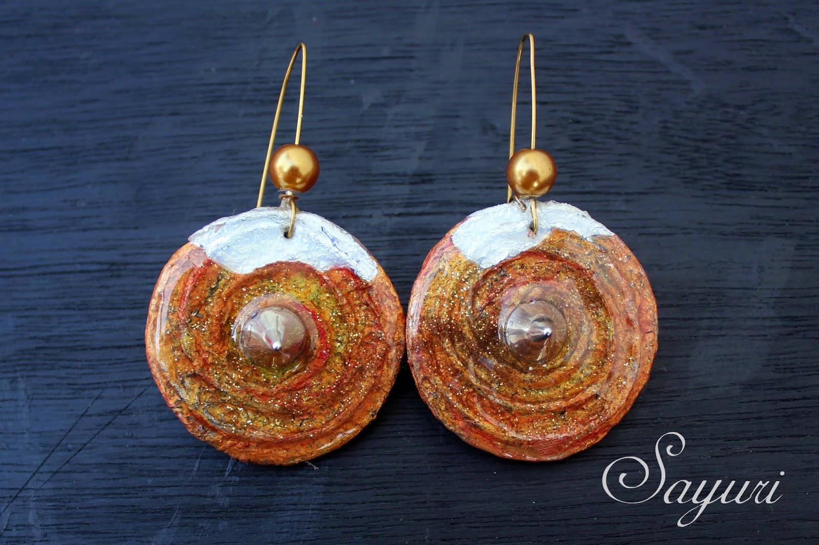 resin paper earrings