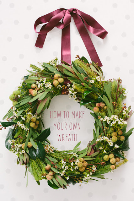 DIY Foliage Winter Wreath