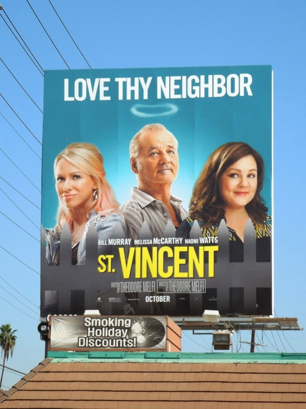 St Vincent Love thy neighbor billboard