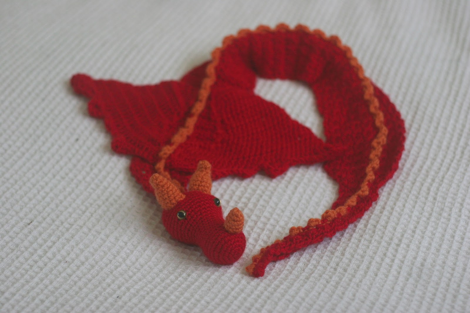 Knit Dragon Pattern : Six Little Mice: Dragon Scarf Pattern
