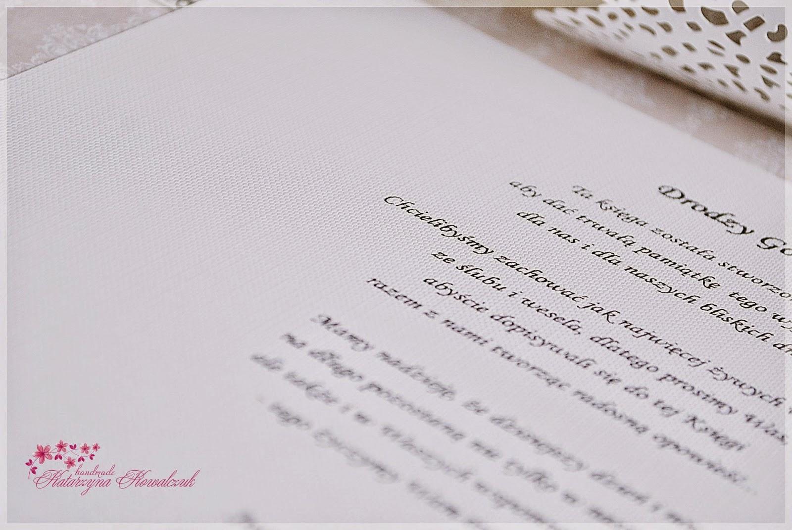 księga gości weselnych scrapbooking