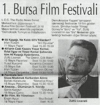 1.Bursa Film Festivali (1996-97)