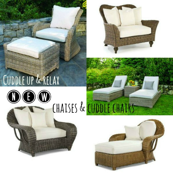Outdoor chaises & cuddle chairs