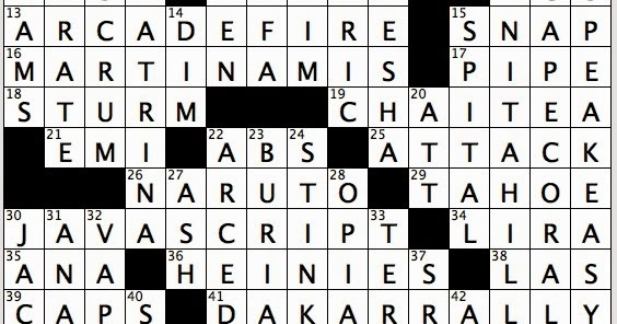 Rex Parker Does the NYT Crossword Puzzle: Old-fashioned ...