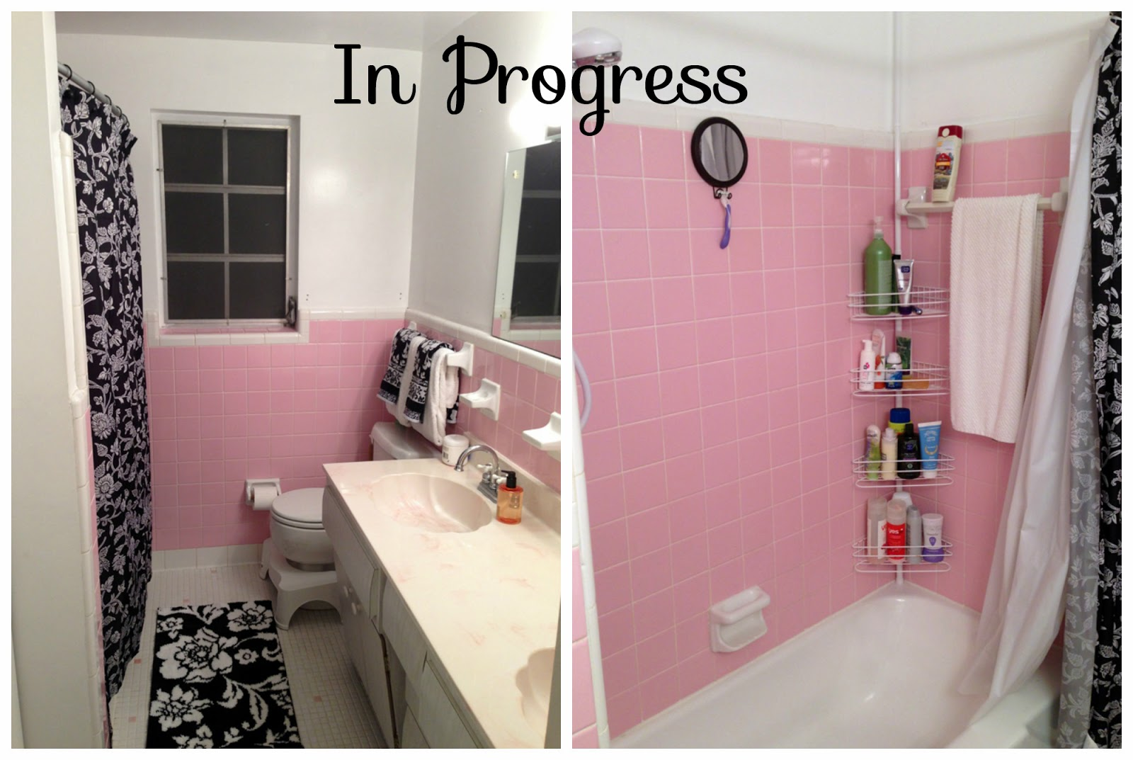 show and tell meg: pink bathroom update (& our latest house