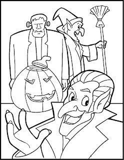 Coloring Pages Online on Halloween Coloring Pages  Online Halloween Coloring Pages