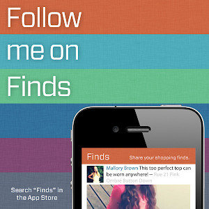 Follow me on Finds!