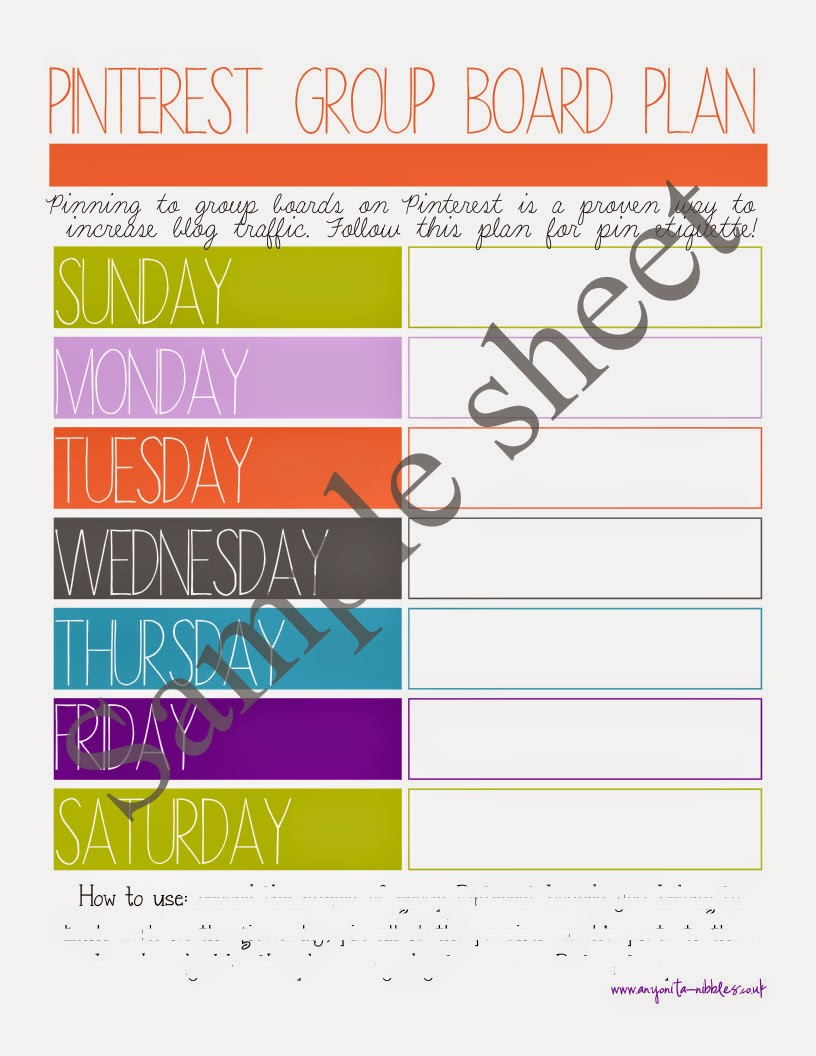 Ultimate blog planner sample page from anyonita-nibbles.co.uk