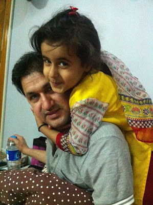Rahim Shah with his daughter Fatima Shah in Pakistan celebrities
