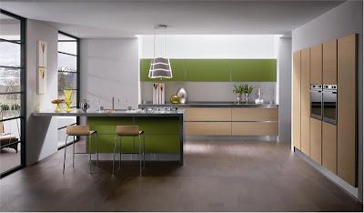Весенний дизайн кухни: салатовый оттенок в интерьере