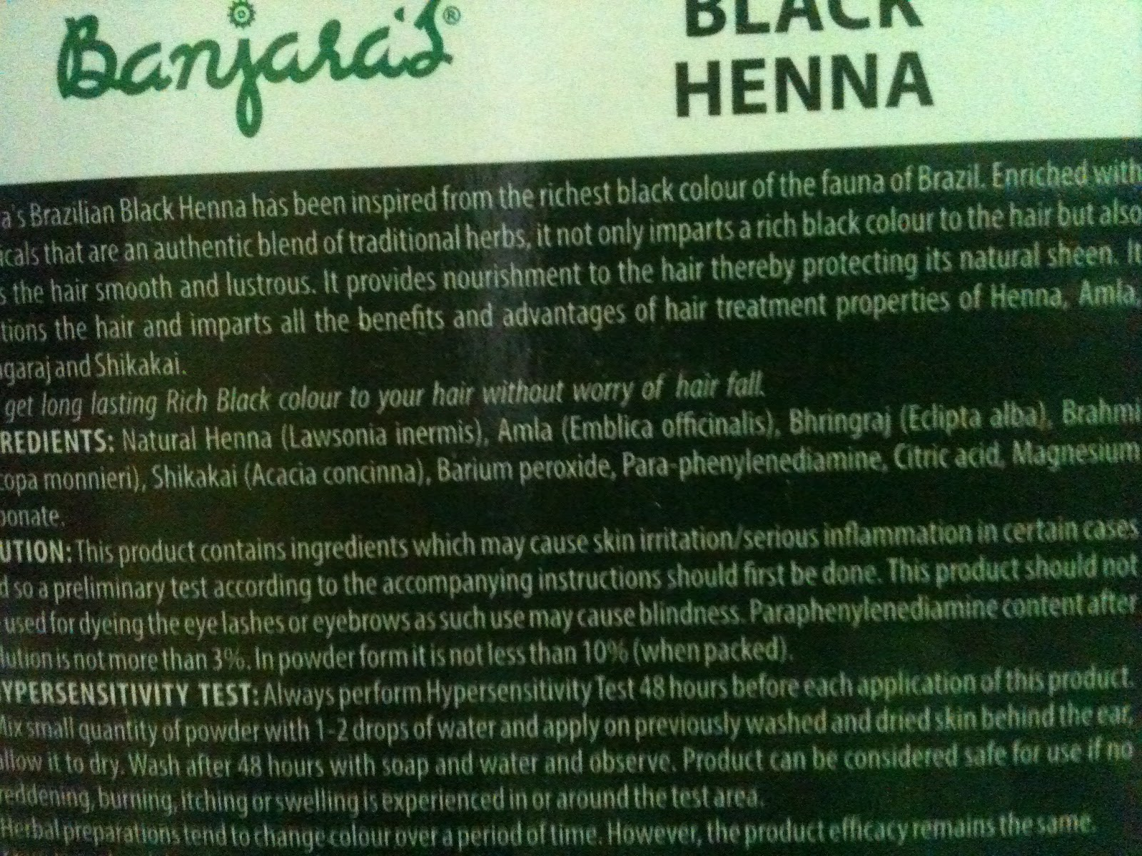 banjaras black henna review