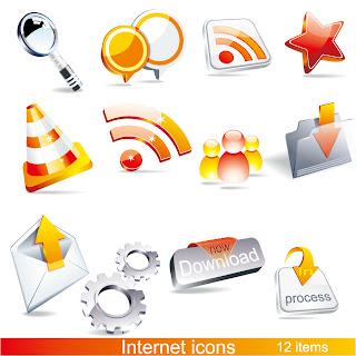 立体的なインターネット アイコン beautiful 3d icon イラスト素材1