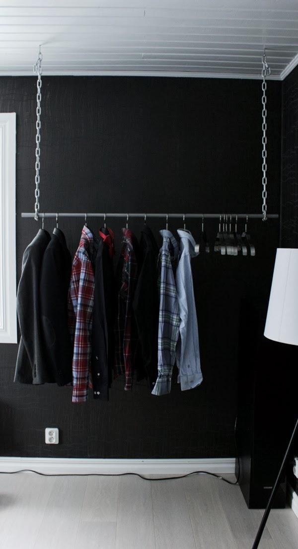 svart, vitt& rött DIY; Klädhängare