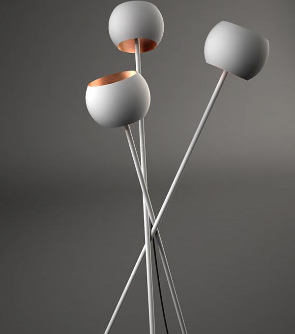 Top pf white floor lamp