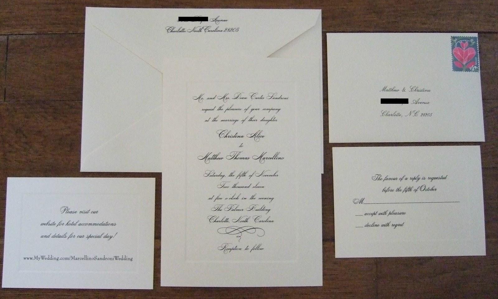 Wedding Invitations - Carolina Charm