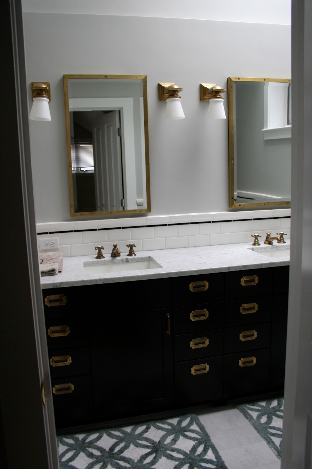 Charmant I Wanted A 1920u0027s Feel And Shelly Van Rozeboom Helped Make My Vision Come  To Life. I Love The Antique Brass Medicine Cabinets, Lights, Faucets, ...