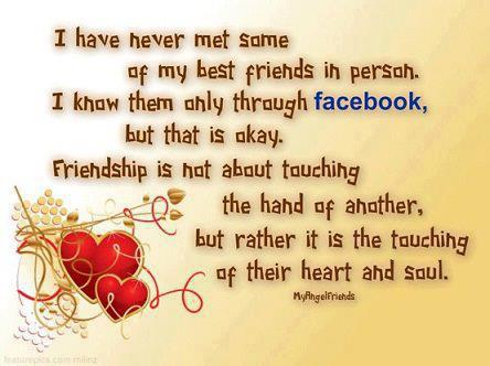 Quotes About Love And Friendship For Facebook : Quotes and Sayings: I know them only through facebook