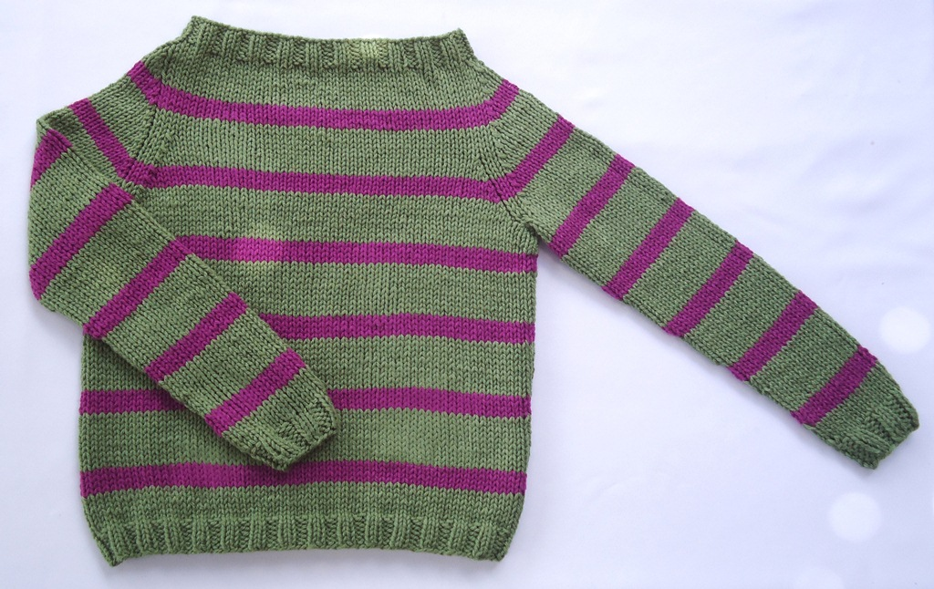 Knitting Pattern For Toddler Raglan Sweater : Stitch of Love: ~ My first sweater!