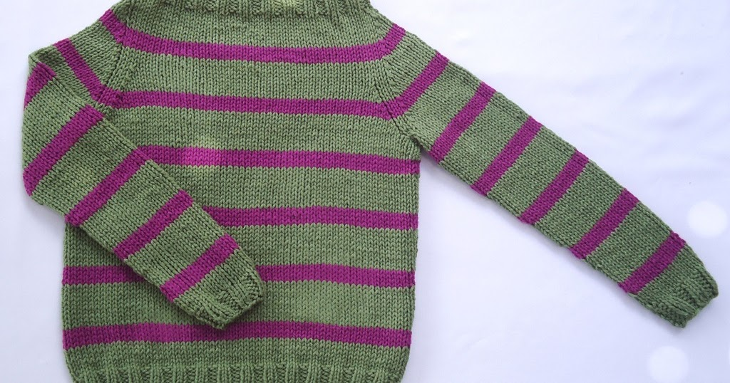 Free Sweater Knitting Patterns For Kids : Stitch of Love: ~ My first sweater!