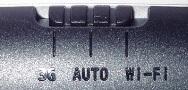 「3G / AUTO / Wi-Fi」の切替スイッチ