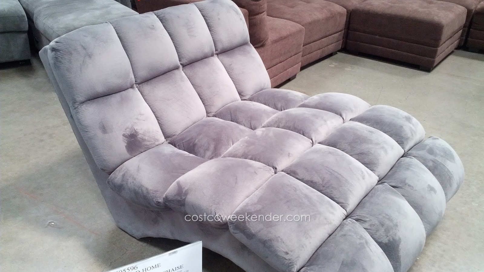 Emerald home boylston double chaise lounge costco weekender for Chaise lounge costco