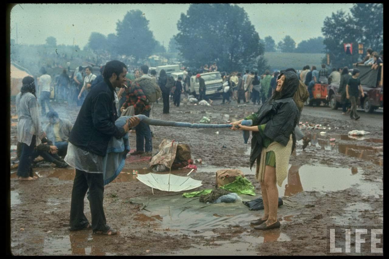 Fotos de Woodstock. Agosto de 1969.