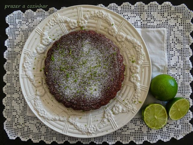 prazer a cozinhar - bolo de lima e chocolate
