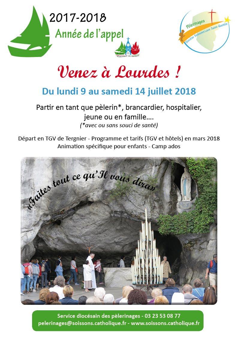 du 9 au 14 juillet, venez en pèlerinage à Lourdes