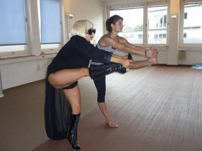 Lady Gaga Bikram Yoga