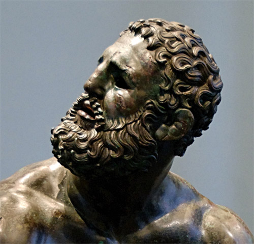Ancient bronze sculpture, The Boxer of Quirinal