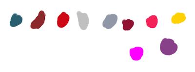 Fig. 2 - Paleta cores feita com valores de tinta RGB.