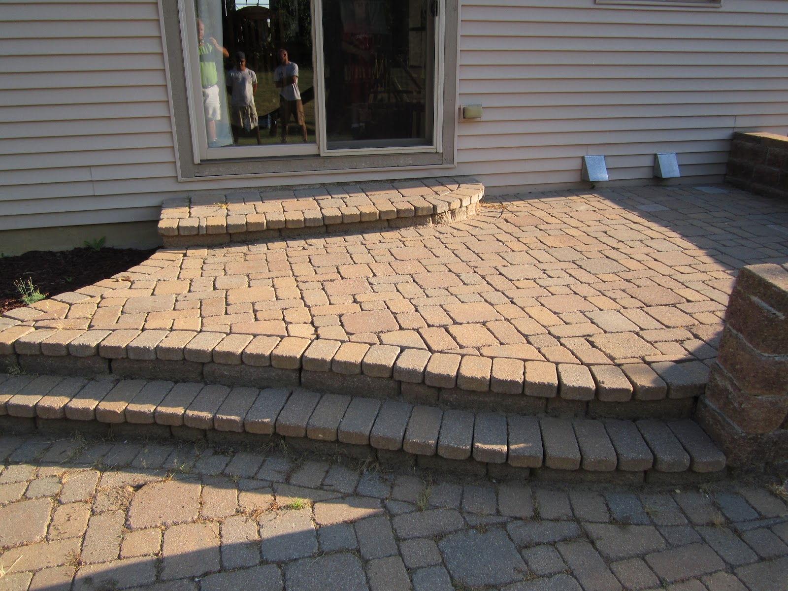 Perfect Multi Level Paver Patio Is Reconstructed To One Level For Added Space