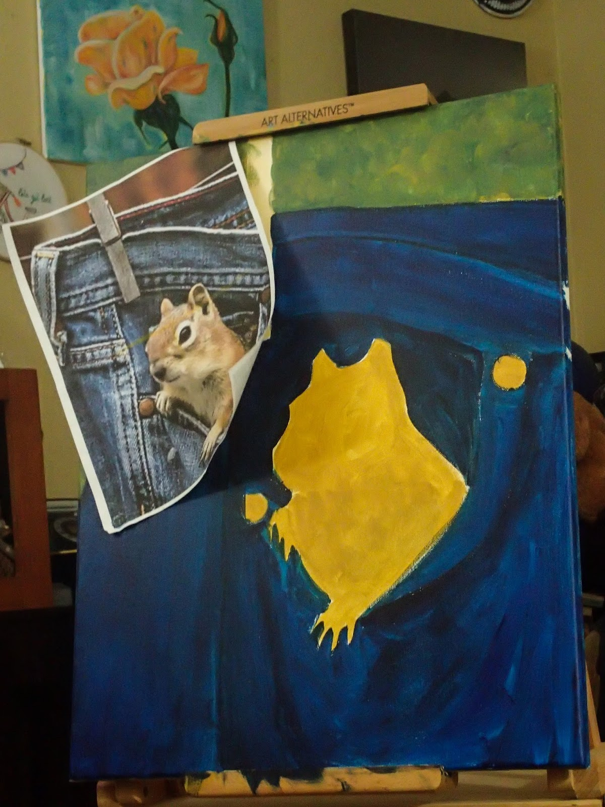 Deliberately creative pocket squirrel for Creative things to do with paint
