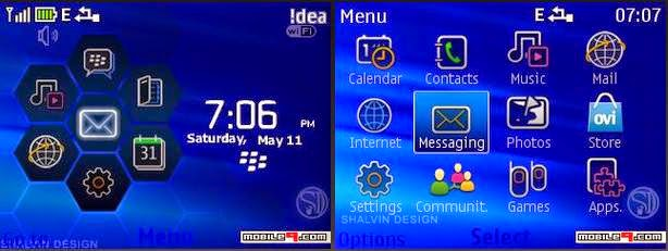 Tema nokia c3, x2, asha 305 - blackberry menu 2015