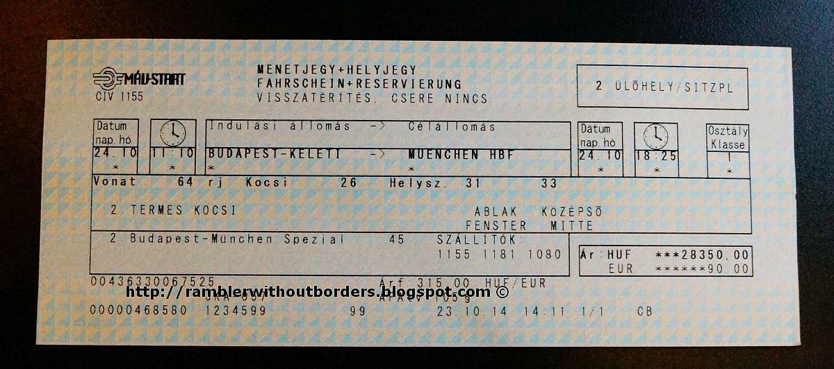 Rambler Without Borders Budapest To Munich By Train