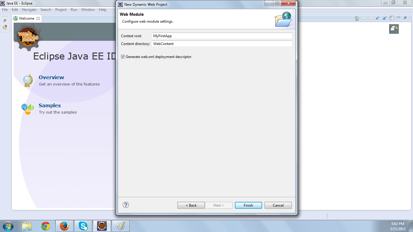 interview Servlet Example in exclipse