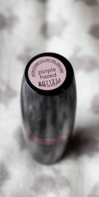 avon lipstick purple hazed
