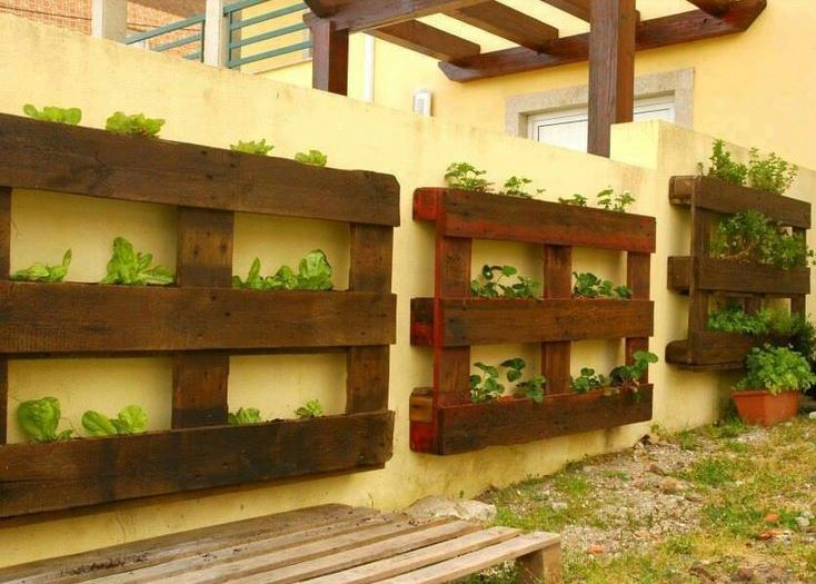 Pallet Garden Source Ginaursini Diy Projects Pins